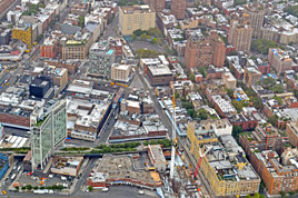 Meatpacking District set fra helikopter
